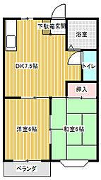 レジデンス古田A[103号室]の間取り
