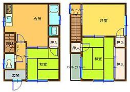 [タウンハウス] 兵庫県姫路市北今宿1丁目 の賃貸【/】の間取り