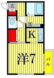 東京都足立区西新井栄町1丁目の賃貸アパートの間取り