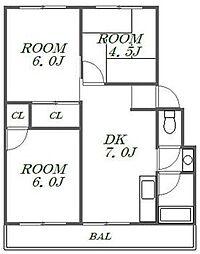 シノハラビル2[3階]の間取り
