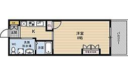 Osaka Metro御堂筋線 西中島南方駅 徒歩8分の賃貸マンション 7階1Kの間取り