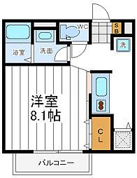大阪府大阪市阿倍野区昭和町の賃貸アパートの間取り