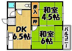 コーポ垣根 I・II[1-204k号室]の間取り