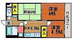 セントエルモ門田文化町[6階]の間取り