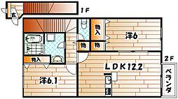 エスポワールハイム D棟[2階]の間取り