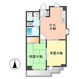 サンモーリエ[2階]の間取り