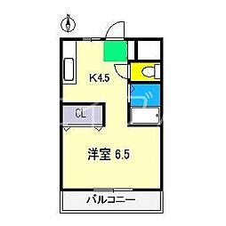 ジョイフル大川筋[2階]の間取り