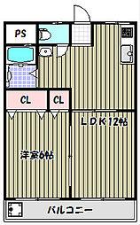 アーバンフラット[2階]の間取り
