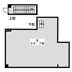 ダイユウビル赤坂 地下1階ワンルームの間取り