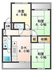 ハイツ柳川[2階]の間取り