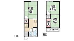 [テラスハウス] 兵庫県川西市霞ヶ丘2丁目 の賃貸【/】の間取り