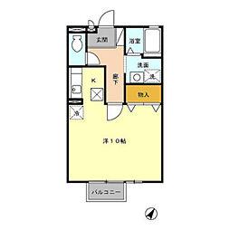 ウィンベルB[1階]の間取り
