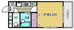 MRM北梅田[4階]の間取り