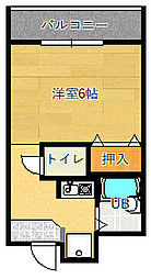 グランヴェール深澤[1階]の間取り
