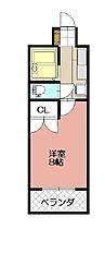 KMマンション八幡駅前III[715号室]の間取り