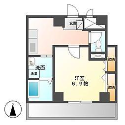 クラウザン徳川[6階]の間取り