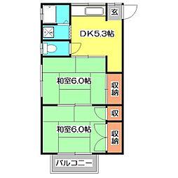 野寺サンハイム[2階]の間取り