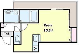 roots2819 2階ワンルームの間取り