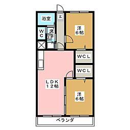 小田ビル[4階]の間取り