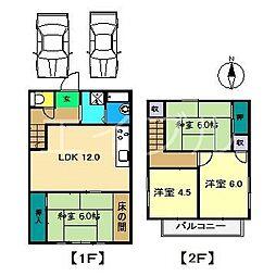 [一戸建] 高知県高知市一ツ橋町2丁目 の賃貸【高知県 / 高知市】の間取り