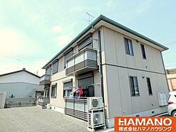 茨城県筑西市二木成の賃貸アパートの外観