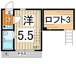 ライフピアプリペアー[1階]の間取り