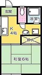 福岡県北九州市小倉南区徳力6丁目の賃貸アパートの間取り