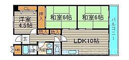 大阪府堺市堺区向陵中町2丁の賃貸マンションの間取り