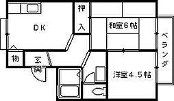 シーサイドハウス東町[203号室]の間取り