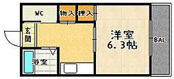 リバージュマンション[303号室]の間取り