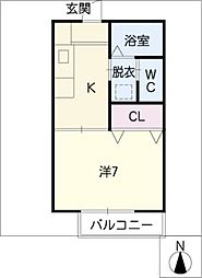 けやきA[2階]の間取り