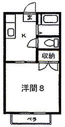 和山ハイツ[102号室]の間取り