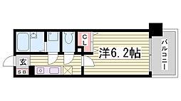 プレサンス新神戸[7階]の間取り