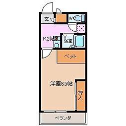 HouseUmi[107号室]の間取り