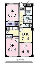 フローレスSUZUKI[202号室]の間取り
