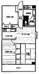 アブニール南台[3階]の間取り