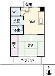 第2マルカネビル[2階]の間取り