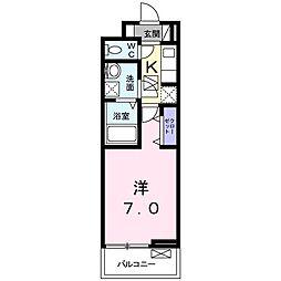 香川県高松市宮脇町2(アパート) 1階1Kの間取り