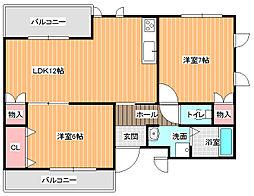 ルミエールナカノ[2階]の間取り