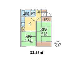千葉県流山市西平井の賃貸アパートの間取り