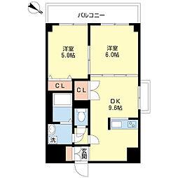 新潟県新潟市中央区関屋金衛町2丁目の賃貸マンションの間取り