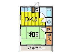 藤田マンション[301号室]の間取り