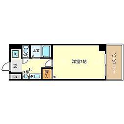 パークサイドピクチャー西心斎橋[5階]の間取り