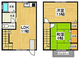 [一戸建] 徳島県板野郡北島町江尻 の賃貸【/】の間取り