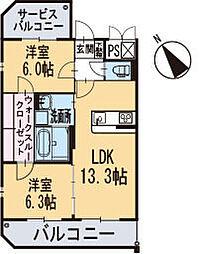 新築エトワール[305号室]の間取り