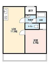 朝日プラザ梅田東1[3階]の間取り