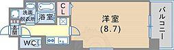 JR東海道・山陽本線 六甲道駅 徒歩4分の賃貸マンション 3階1Kの間取り