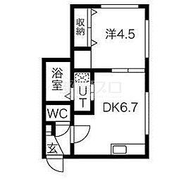 北海道札幌市中央区北二条東9丁目の賃貸マンションの間取り