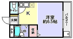シャンテー長尾家具[3階]の間取り