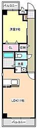 三重県四日市市ときわ4の賃貸マンションの間取り